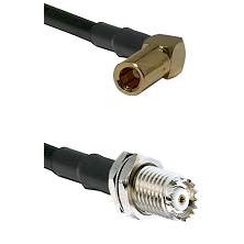 SLB Right Angle Female on RG58C/U to Mini-UHF Female Cable Assembly