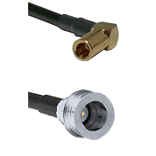 SLB Right Angle Female on RG58C/U to QN Male Cable Assembly