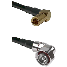 SLB Right Angle Female on RG58C/U to 7/16 Din Right Angle Male Cable Assembly