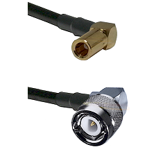 SLB Right Angle Female on RG58C/U to C Right Angle Male Cable Assembly