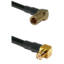 SLB Right Angle Female on RG58C/U to MCX Right Angle Male Cable Assembly