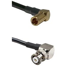 SLB Right Angle Female on RG58C/U to MHV Right Angle Male Cable Assembly