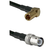 SLB Right Angle Female on RG58C/U to BNC Reverse Polarity Female Cable Assembly