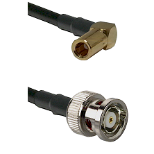 SLB Right Angle Female on RG58C/U to BNC Reverse Polarity Male Cable Assembly