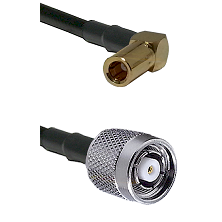 SLB Right Angle Female on RG58C/U to TNC Reverse Polarity Male Cable Assembly