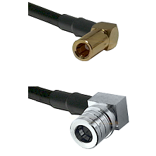 SLB Right Angle Female on RG58C/U to QMA Right Angle Male Cable Assembly