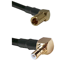 SLB Right Angle Female on RG58C/U to SMB Right Angle Male Cable Assembly