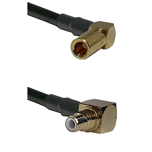 SLB Right Angle Female on RG58C/U to SMC Right Angle Male Cable Assembly