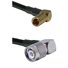 SLB Right Angle Female on RG58C/U to TNC Right Angle Male Cable Assembly