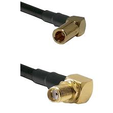 SLB Right Angle Female on RG58C/U to SMA Reverse Thread Right Angle Female Bulkhead Coaxial Cable As