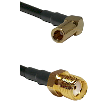 SLB Right Angle Female on RG58C/U to SMA Reverse Thread Female Cable Assembly