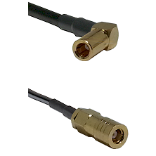 SLB Right Angle Female on RG58C/U to SLB Female Cable Assembly