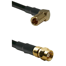 SLB Right Angle Female on RG58C/U to SMC Male Cable Assembly