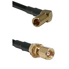 SLB Right Angle Female on RG58C/U to SMC Female Bulkhead Cable Assembly