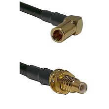 SLB Right Angle Female on RG58C/U to SMC Male Bulkhead Cable Assembly