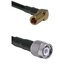 SLB Right Angle Female on RG58C/U to TNC Male Cable Assembly