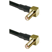 SLB Right Angle Male on Belden 83242 RG142 to SLB Right Angle Male Cable Assembly