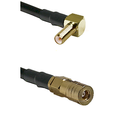 SLB Right Angle Male on Belden 83242 RG142 to SSMB Female Cable Assembly