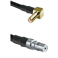SLB Right Angle Male on LMR100 to QMA Female Cable Assembly