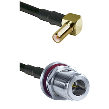SLB Right Angle Male on LMR-195-UF UltraFlex to N Reverse Polarity Female Bulkhead Coaxial Cable Ass