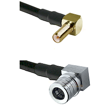 SLB Right Angle Male on LMR-195-UF UltraFlex to QMA Right Angle Male Cable Assembly