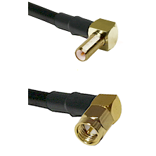 SLB Right Angle Male on LMR-195-UF UltraFlex to SMA Right Angle Male Cable Assembly