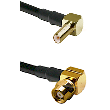 SLB Right Angle Male on LMR-195-UF UltraFlex to SMC Right Angle Female Cable Assembly