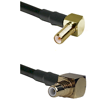 SLB Right Angle Male on LMR-195-UF UltraFlex to SMC Right Angle Male Cable Assembly