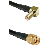 SLB Right Angle Male on LMR-195-UF UltraFlex to SMA Male Cable Assembly