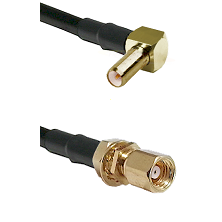 SLB Right Angle Male on LMR-195-UF UltraFlex to SMC Female Bulkhead Cable Assembly