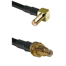 SLB Right Angle Male on LMR-195-UF UltraFlex to SMC Male Bulkhead Cable Assembly