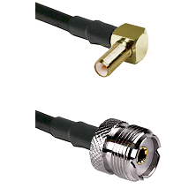 SLB Right Angle Male on LMR-195-UF UltraFlex to UHF Female Cable Assembly