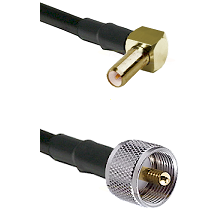 SLB Right Angle Male on LMR-195-UF UltraFlex to UHF Male Cable Assembly