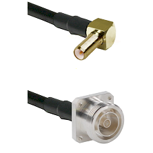 SLB Right Angle Male on LMR200 UltraFlex to 7/16 4 Hole Female Cable Assembly