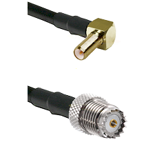 SLB Right Angle Male on LMR200 UltraFlex to Mini-UHF Female Cable Assembly