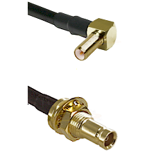 SLB Right Angle Male on RG142 to 10/23 Female Bulkhead Cable Assembly
