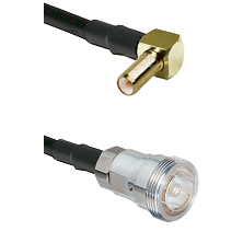 SLB Right Angle Male on RG142 to 7/16 Din Female Cable Assembly