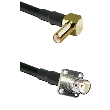 SLB Right Angle Male on RG142 to BNC 4 Hole Female Cable Assembly