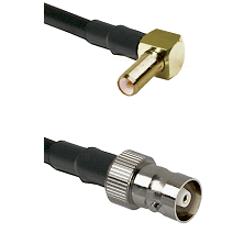 SLB Right Angle Male on RG142 to C Female Cable Assembly