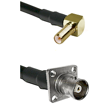 SLB Right Angle Male on RG142 to C 4 Hole Female Cable Assembly