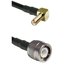 SLB Right Angle Male on RG142 to C Male Cable Assembly