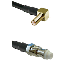 SLB Right Angle Male on RG142 to FME Female Cable Assembly