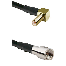 SLB Right Angle Male on RG142 to FME Male Cable Assembly