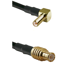SLB Right Angle Male on RG142 to MCX Male Cable Assembly
