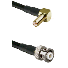 SLB Right Angle Male on RG142 to MHV Male Cable Assembly