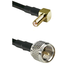 SLB Right Angle Male on RG142 to Mini-UHF Male Cable Assembly