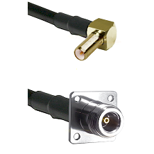 SLB Right Angle Male on RG142 to N 4 Hole Female Cable Assembly