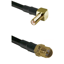 SLB Right Angle Male on RG142 to SMA Reverse Polarity Female Cable Assembly