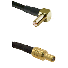 SLB Right Angle Male on RG188 to SLB Male Cable Assembly