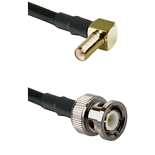 SLB Right Angle Male on RG400 to BNC Male Cable Assembly
